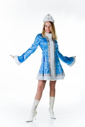 Christmas costume Snow Maiden do it yourself