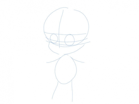 How to draw a girl, step 3
