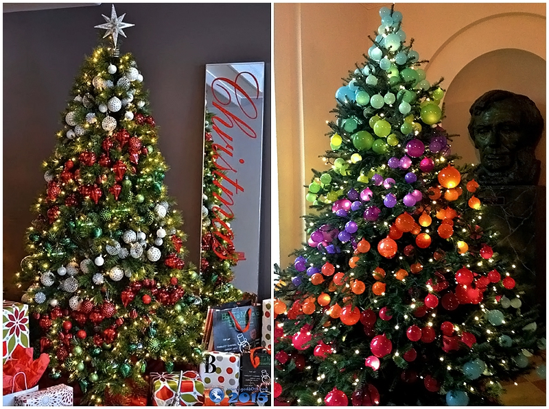 Fir-trees with a screw arrangement of toys