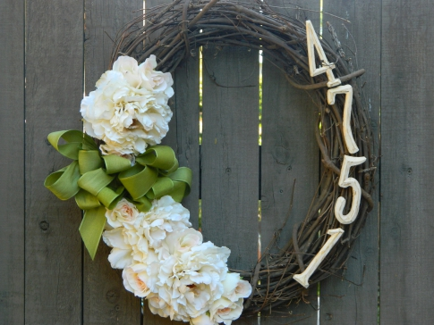 Wreath woven from birch branches