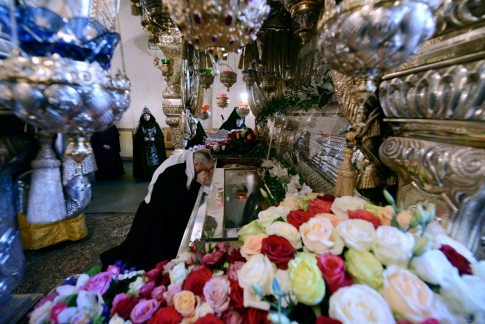 The relics of Matrona of Moscow
