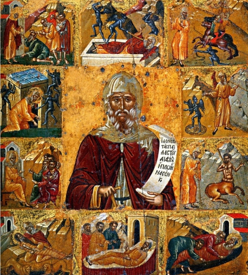 Anthony the Great - icon with a living