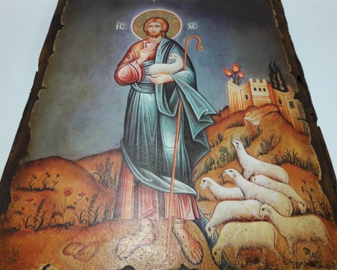 Christ with a sheep