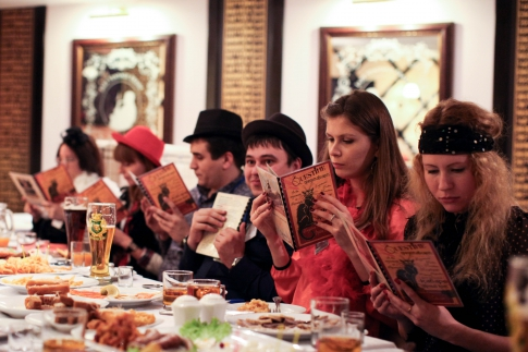 New Year in a restaurant