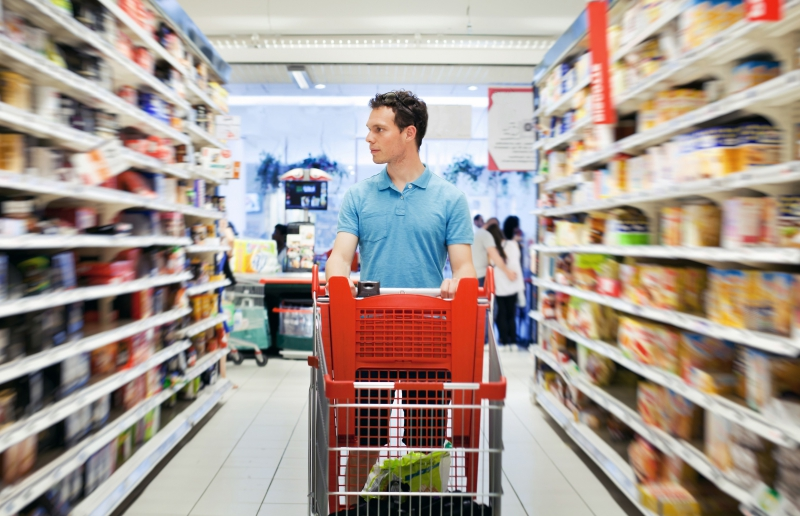 Movement in the supermarket