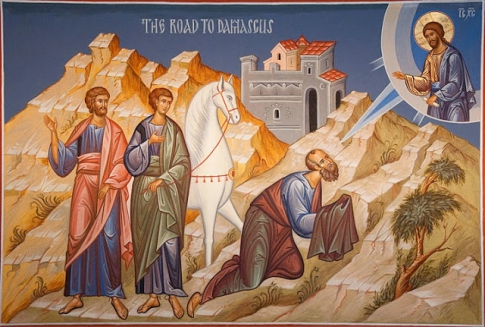 the apostle Paul received his sight