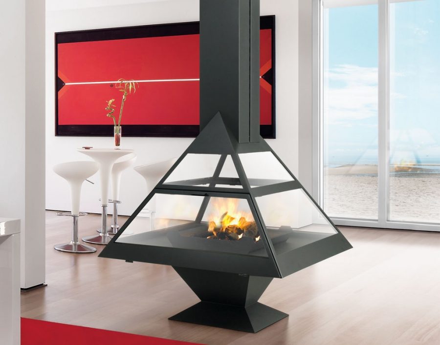 Island Electric Fireplace