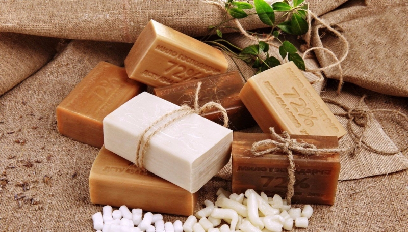 Soaps of different colors