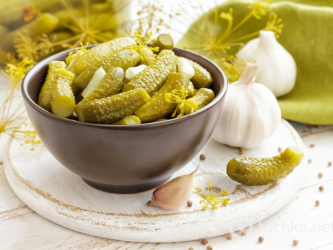 Salted cucumbers