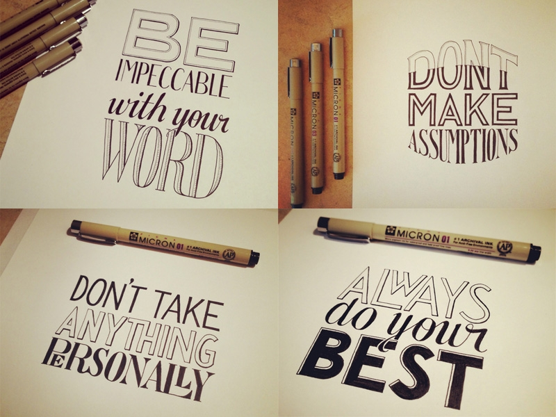 4 lettering examples