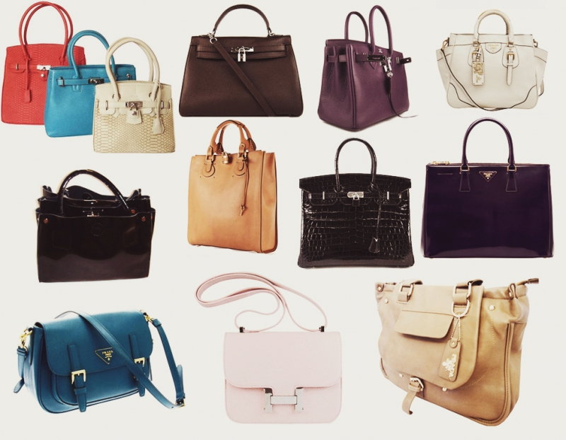Many different bags