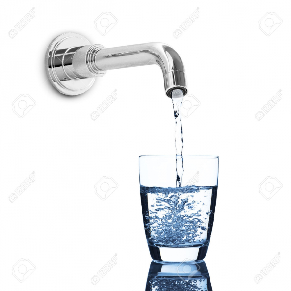 Clear water from the tap