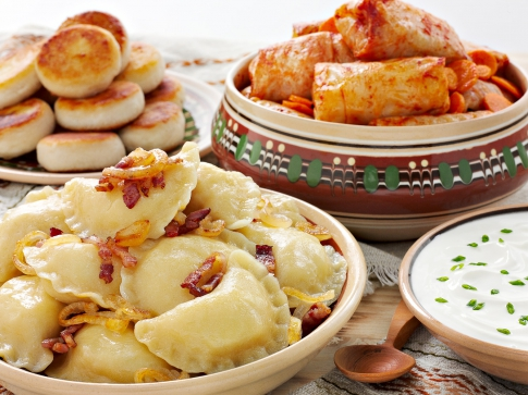 Dumplings and cabbage rolls