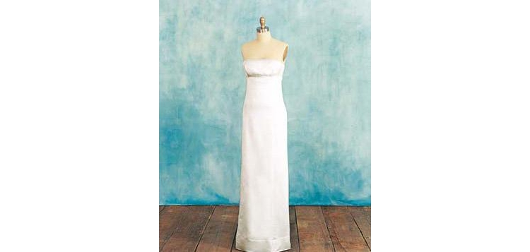 Wedding dress small stature