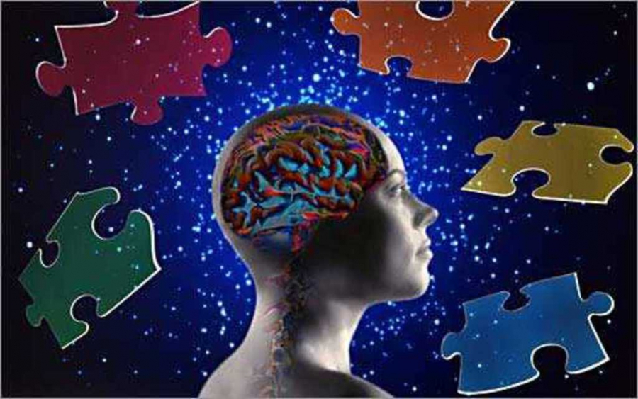 Human head and puzzles