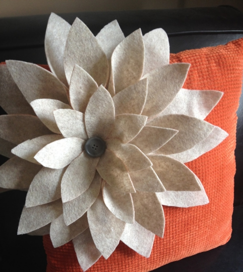 Cushion with flower
