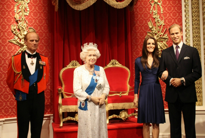 Wax figures of the royal family
