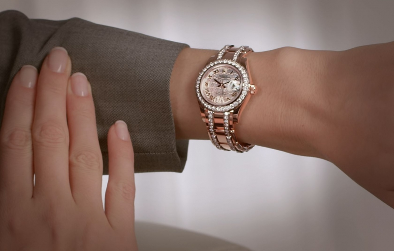 Watch on the female hand