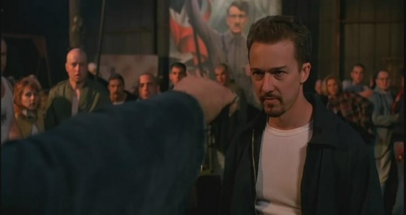 "Frame from the film ""American History X"""