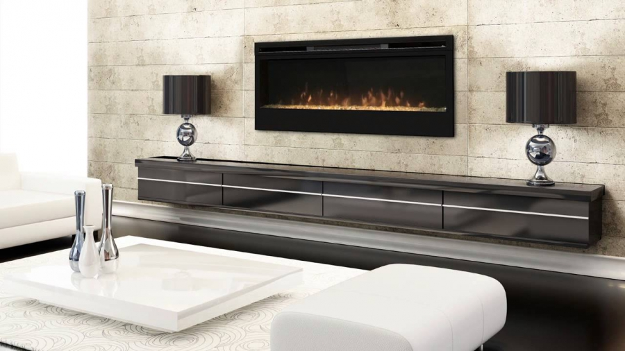 Electrofireplace in a modern interior
