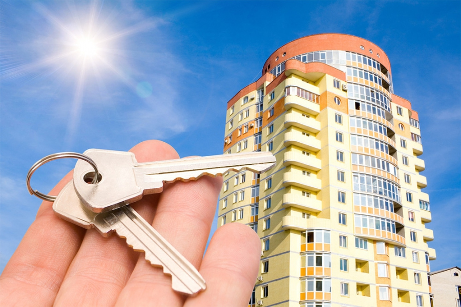 High-rise buildings and keys