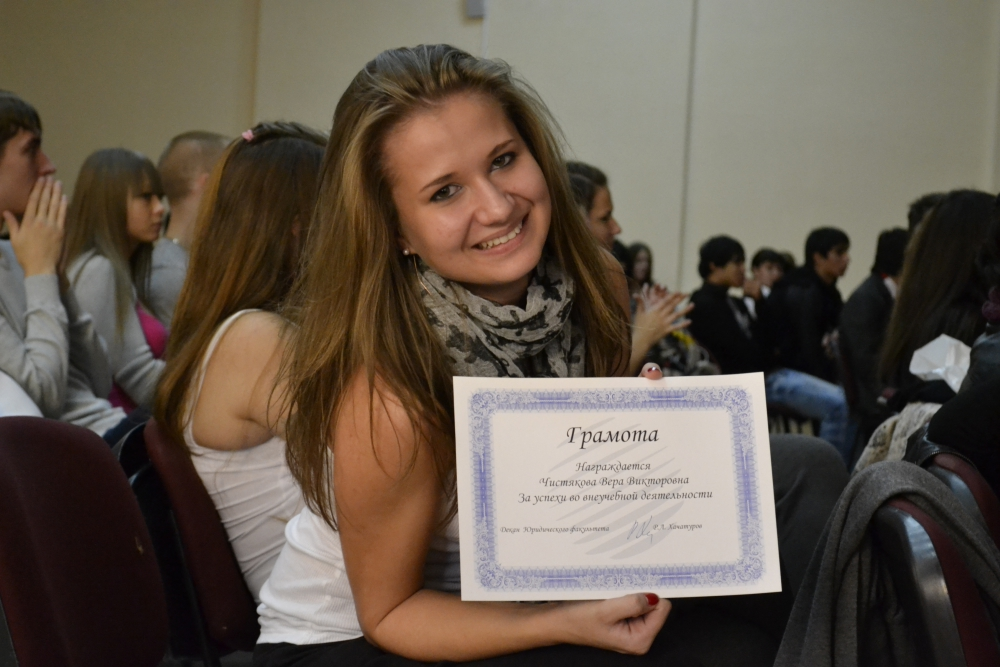 Student with a diploma