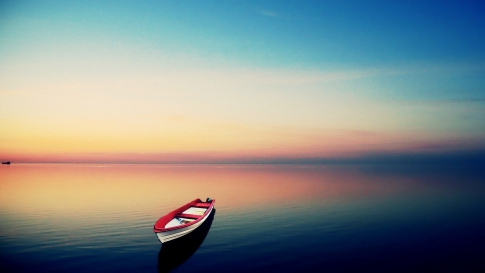 Boat and calm sea