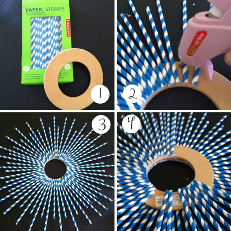 Instructions for the wreath of tubes
