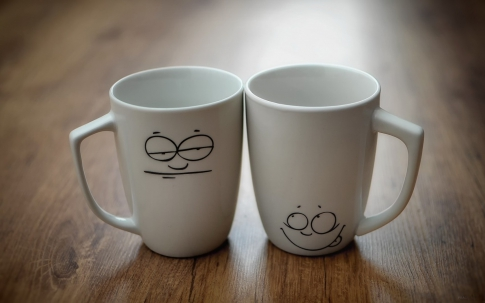 Cups with mood
