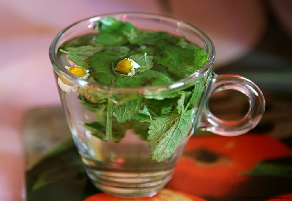 Mint cocktail with chamomile