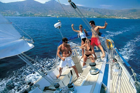 Downshifters on the yacht