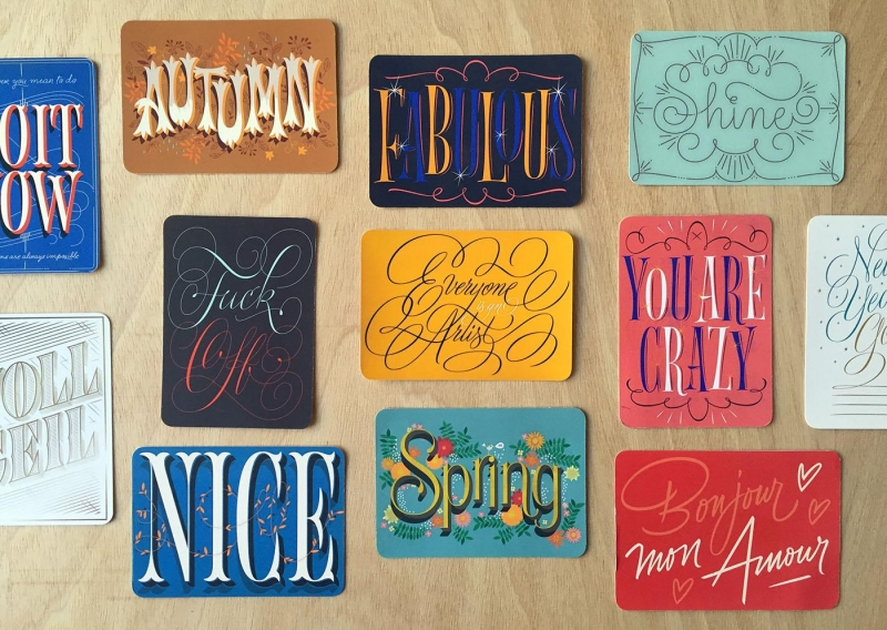 Lettering Cards
