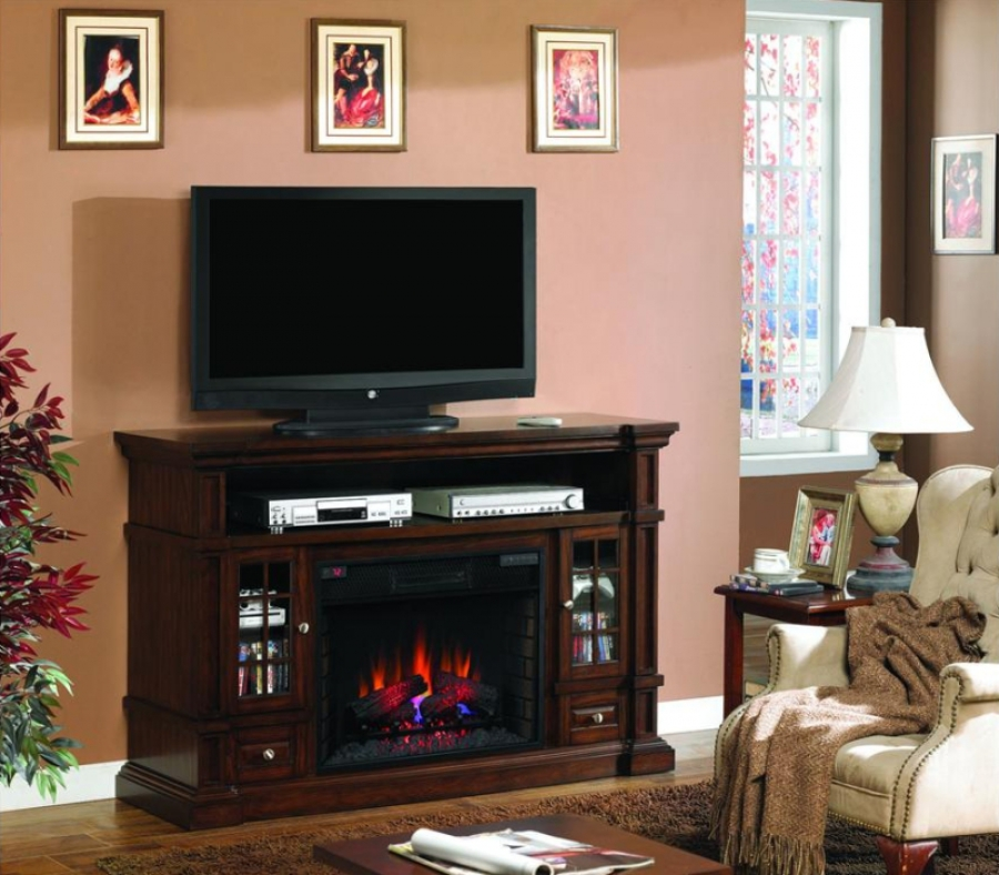 Wall-mounted electric fire