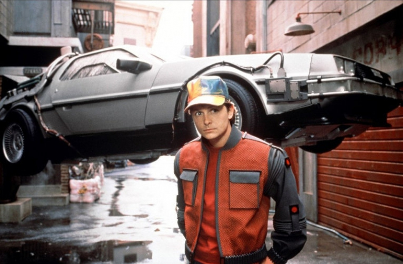 Marty McFly with a car