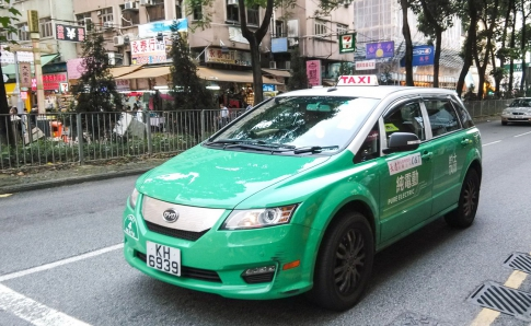 BYD E6 in work