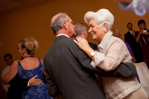 Old people are dancing