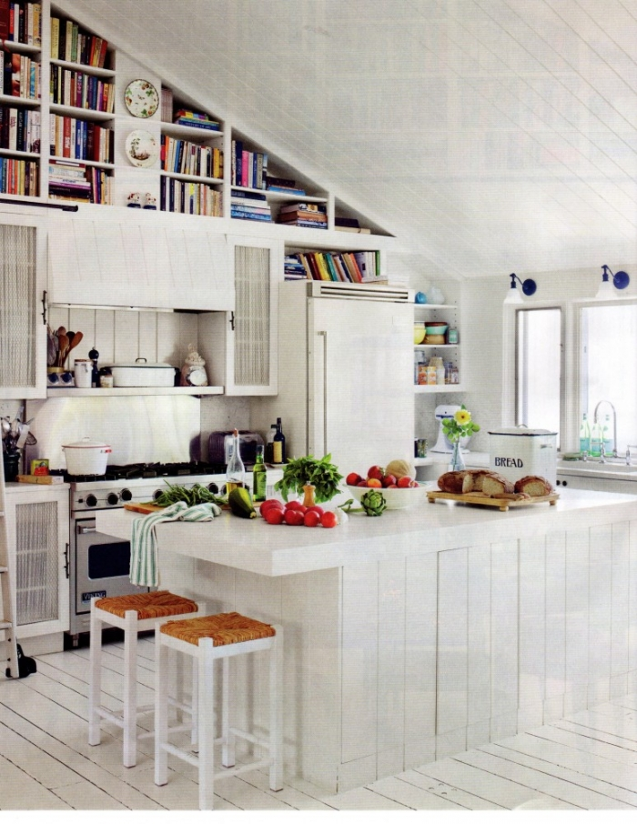 High ceiling in the kitchen