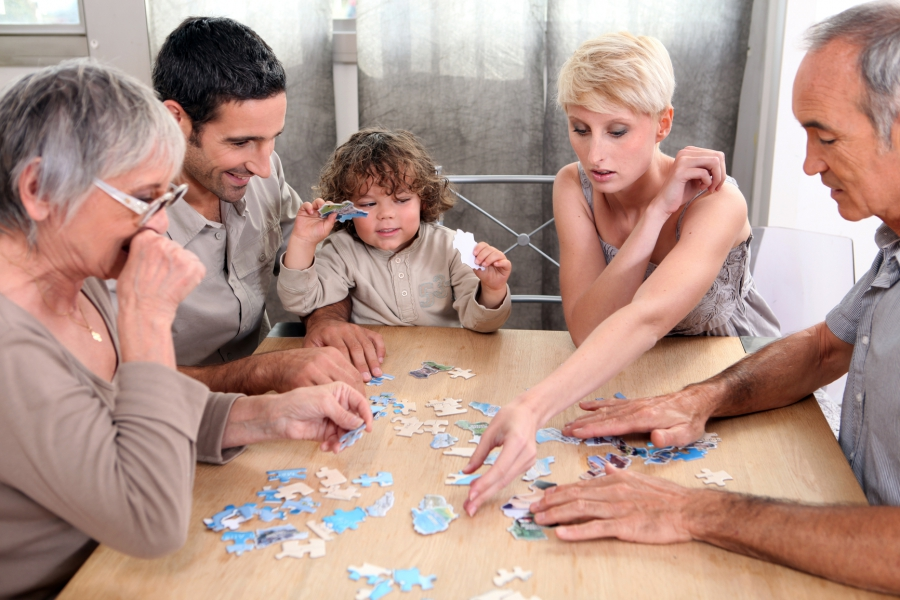 Family collects puzzles