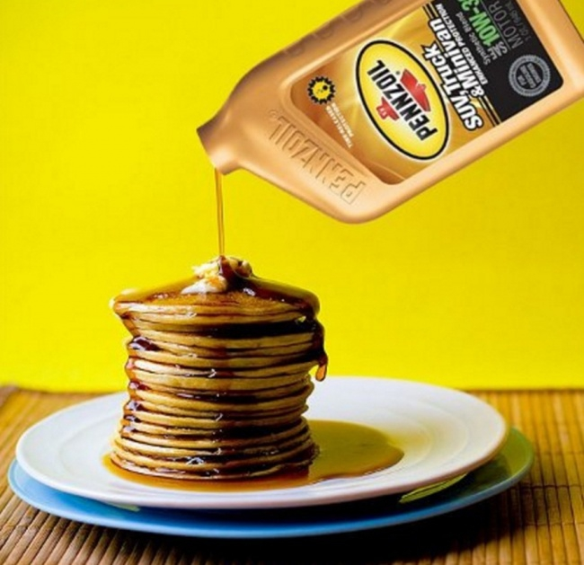 Butter on pancakes
