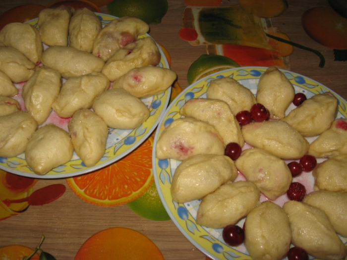 Dishes with dumplings