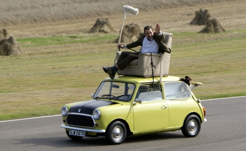 Mr Bean on the roof
