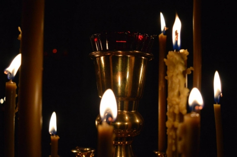 Candles on the candlestick