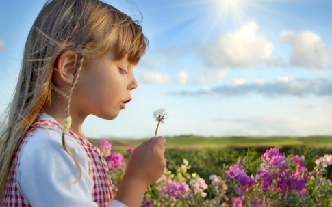 Baby and flower