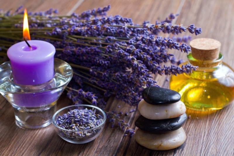 Lavender candles and oil