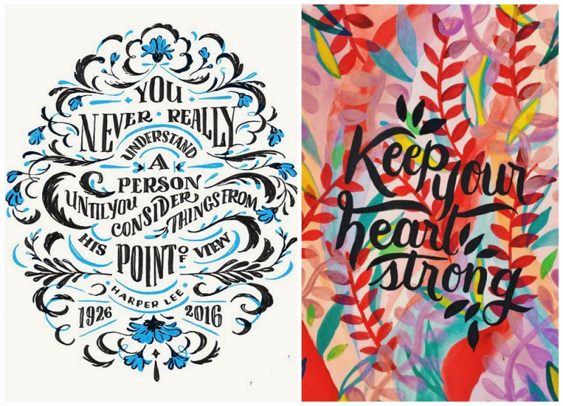 Lettering collage
