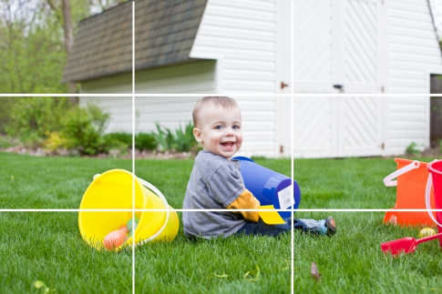 Rule of thirds in portrait