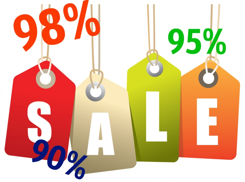 Discounts from 90% up