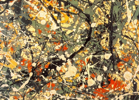 Abstract expressionism style