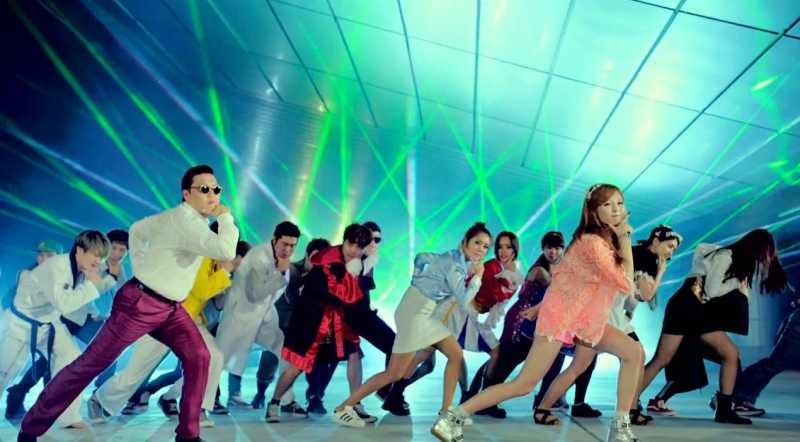 Frame from clip Gangnam Style