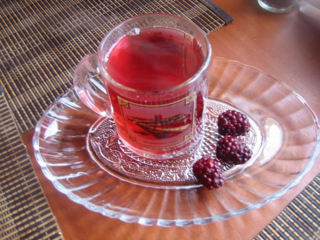Compote in a cup